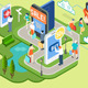 Isometric People Virtual Shopping Concept - GraphicRiver Item for Sale