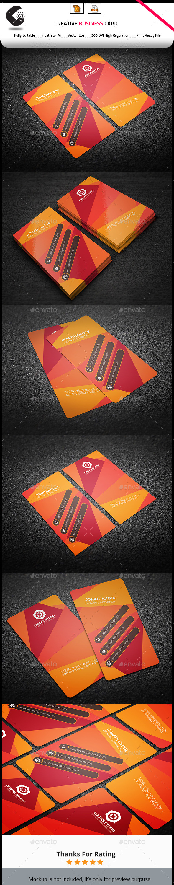 GraphicRiver Creative Vertical Business Card 10511537
