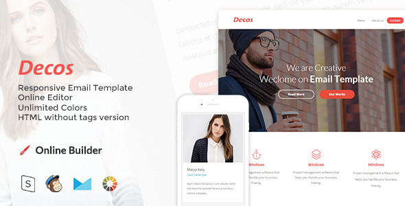 ThemeForest Decos Responsive Email and Newsletter Template 10511543
