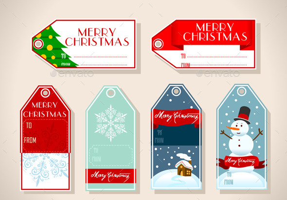 GraphicRiver Set of Six Christmas Placeholder Gift 10511610