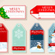 Set of Six Christmas Placeholder Gift - GraphicRiver Item for Sale