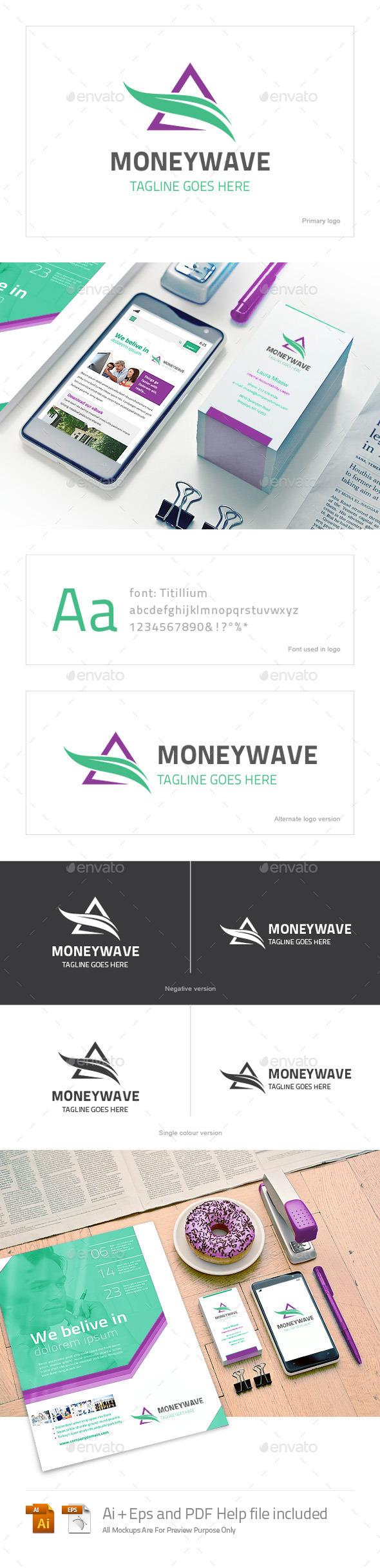 GraphicRiver Moneywave Logo 10511613