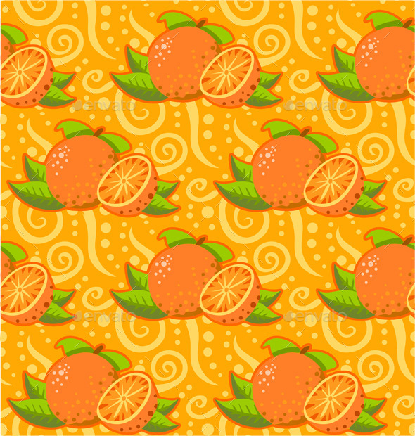 GraphicRiver Pattern with Two Orange 10511664