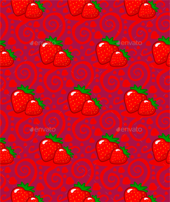 GraphicRiver Pattern with Two Strawberries 10511685