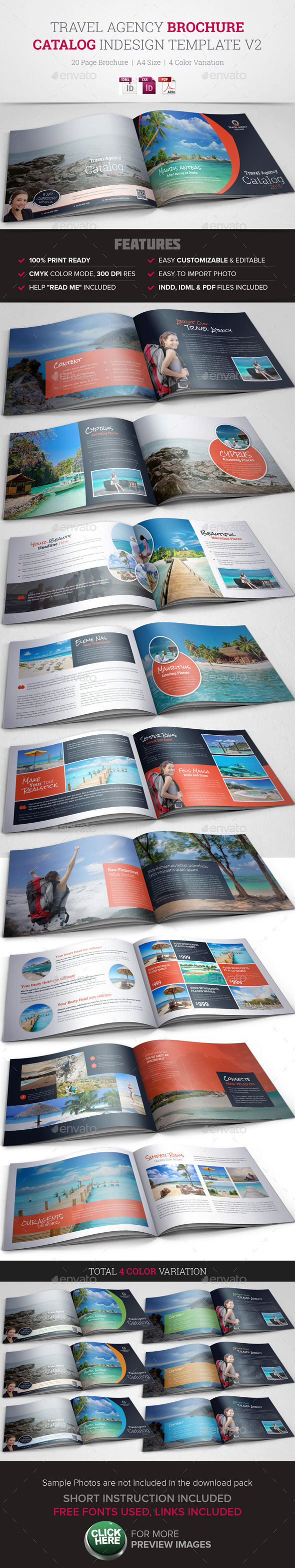 GraphicRiver Travel Agency Brochure Catalog InDesign 2 10511731
