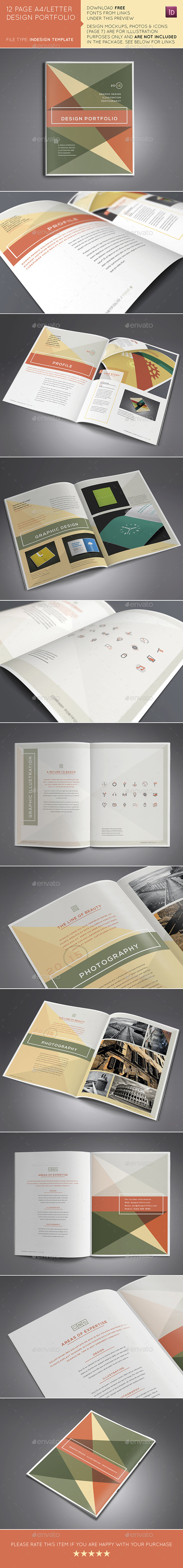 GraphicRiver 12 Page A4 US Design Portfolio Brochure 10511824