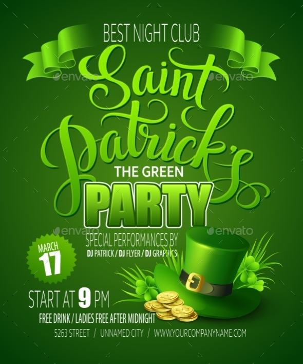 GraphicRiver St Patricks Day Poster 10511860