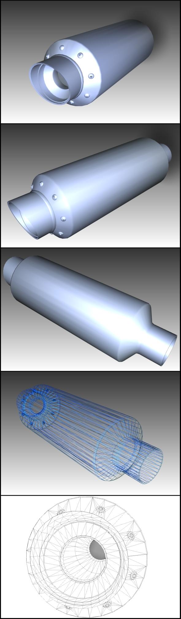 3DOcean Tuning Exhaust Pipe Borla 10511920