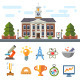 Symbols of Education and Science - GraphicRiver Item for Sale