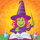 Girl Witch Casting a Spell - GraphicRiver Item for Sale