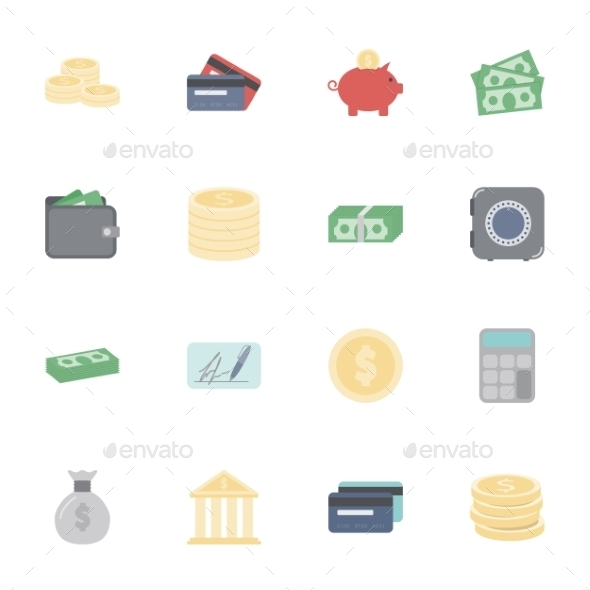 GraphicRiver Money and Financial Icons 10512068