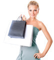 Beautiful female holding shopping bags - PhotoDune Item for Sale