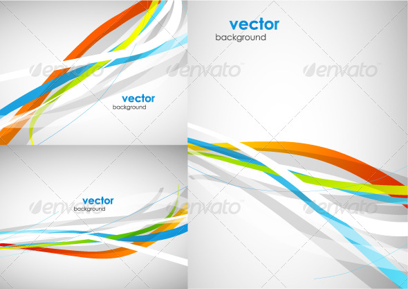 Abstract lines. Vector background pack - Backgrounds Business