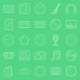 Music and Audio Thin Lines Icons Set - GraphicRiver Item for Sale