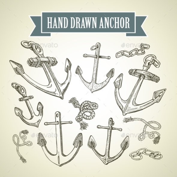 GraphicRiver Hand Drawn Anchor 10512280