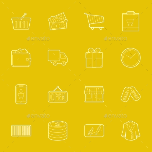 GraphicRiver Shopping Icons 10512300