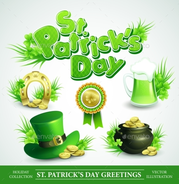 GraphicRiver St Patricks Day Set 10512445