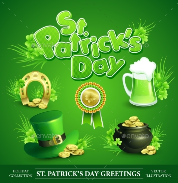 GraphicRiver St Patricks Day Set 10512446