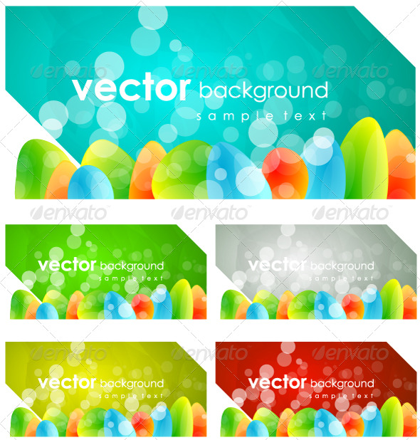 Abstract colorful banners - Web Technology