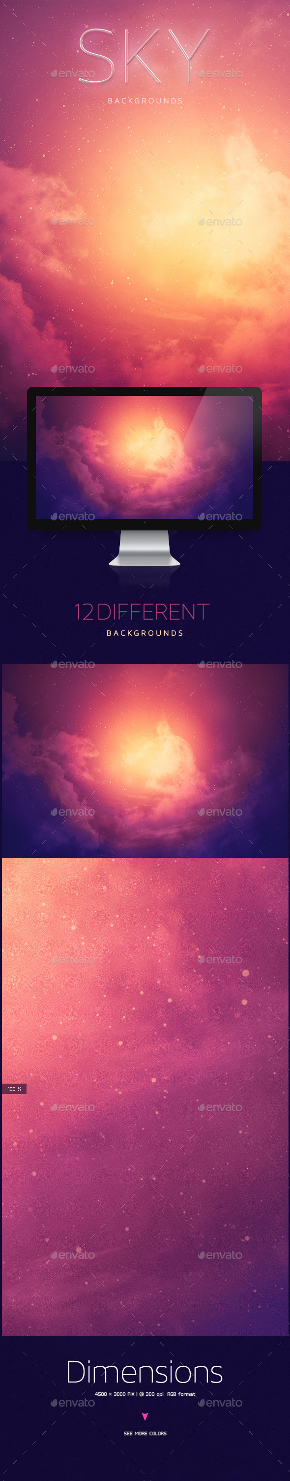 GraphicRiver Sky Abstract Backgrounds 10512512
