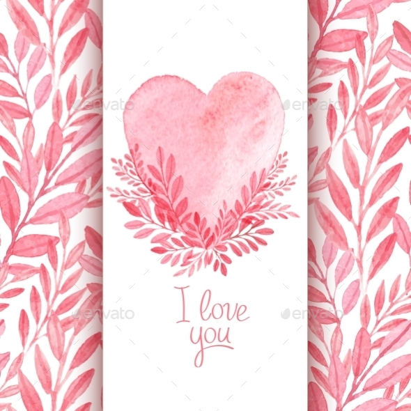 GraphicRiver Watercolor Valentines 10512517