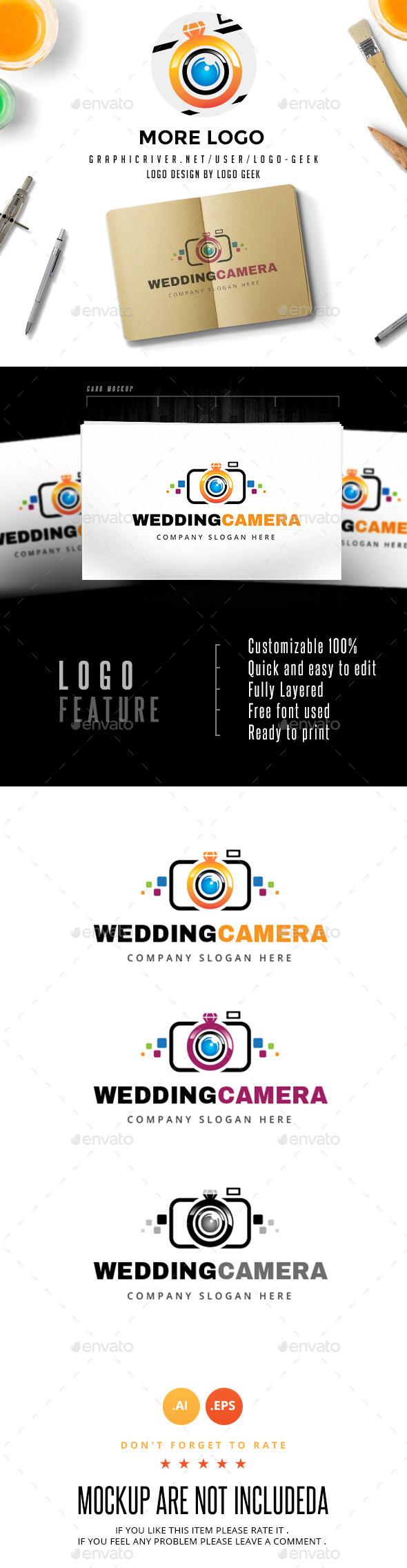 GraphicRiver Wedding Camera Logo 10512545