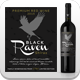 Black Raven - Wine Label Vector Template - GraphicRiver Item for Sale