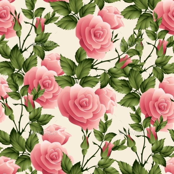 GraphicRiver Rose Pattern 10512772