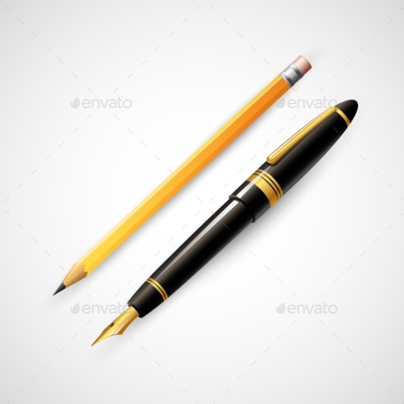 GraphicRiver Pencils and Pens 10512858