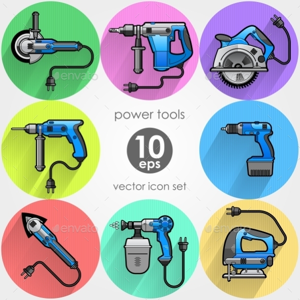 GraphicRiver Power Tool Set 10512863