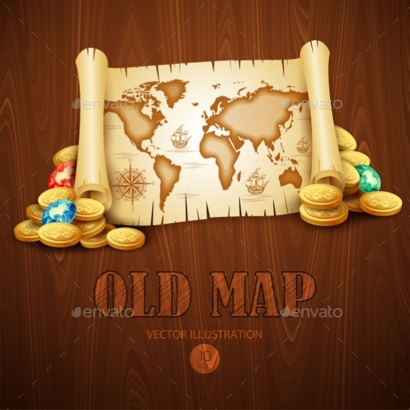 GraphicRiver Old Map 10512874