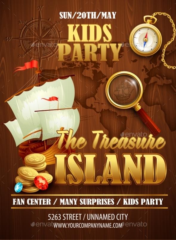 GraphicRiver Treasure Island Poster 10512884