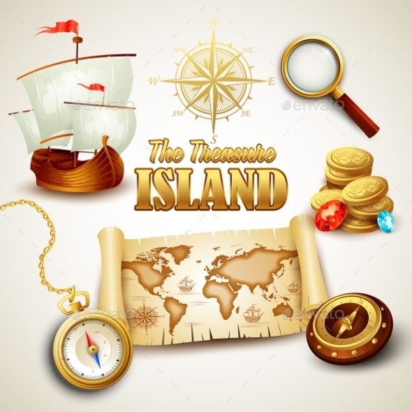 GraphicRiver Treasure Island 10512891