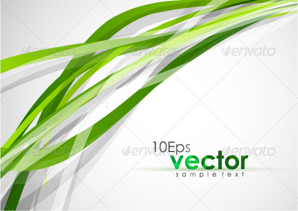 GraphicRiver Abstract wavy green lines 132029