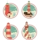 Set of Lighthouse Icons - GraphicRiver Item for Sale
