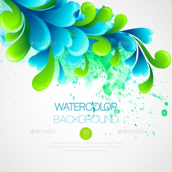GraphicRiver Watercolor Background 10512976