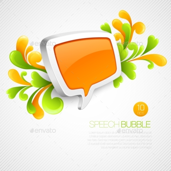 GraphicRiver Speech Bubble with Swirls 10512978