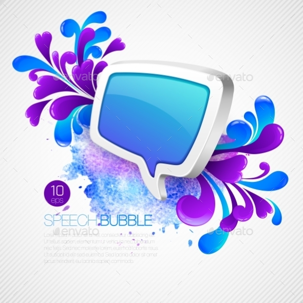 GraphicRiver Speech Bubble with Swirls 10512981