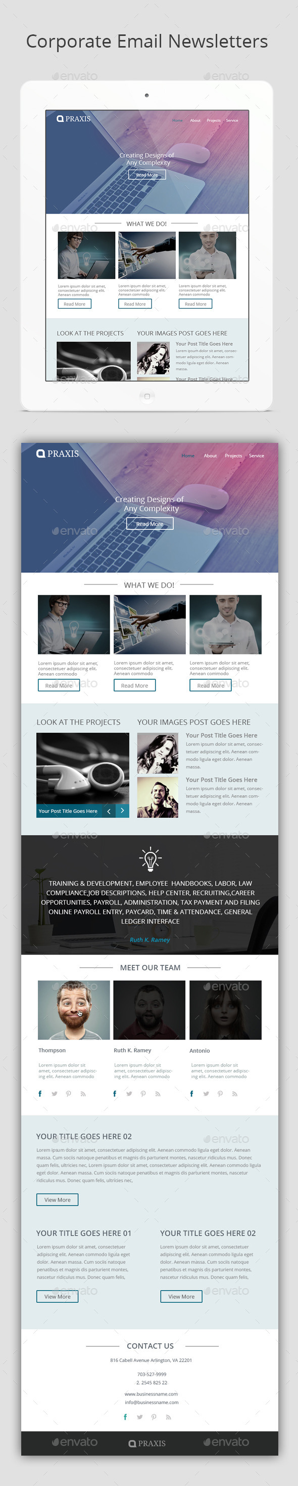 GraphicRiver Corporate Email Newsletters 10513030