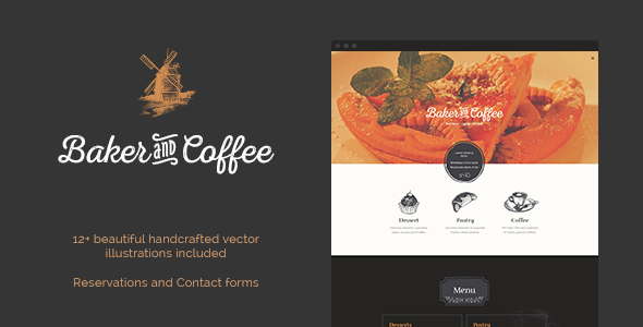 ThemeForest Baker & Coffee HTML Template 10513757