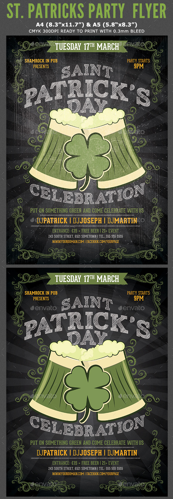 GraphicRiver St Patricks Flyer Template 10513950