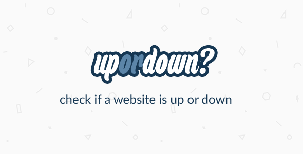 CodeCanyon UpOrDown Check if a website is down or not 10514090