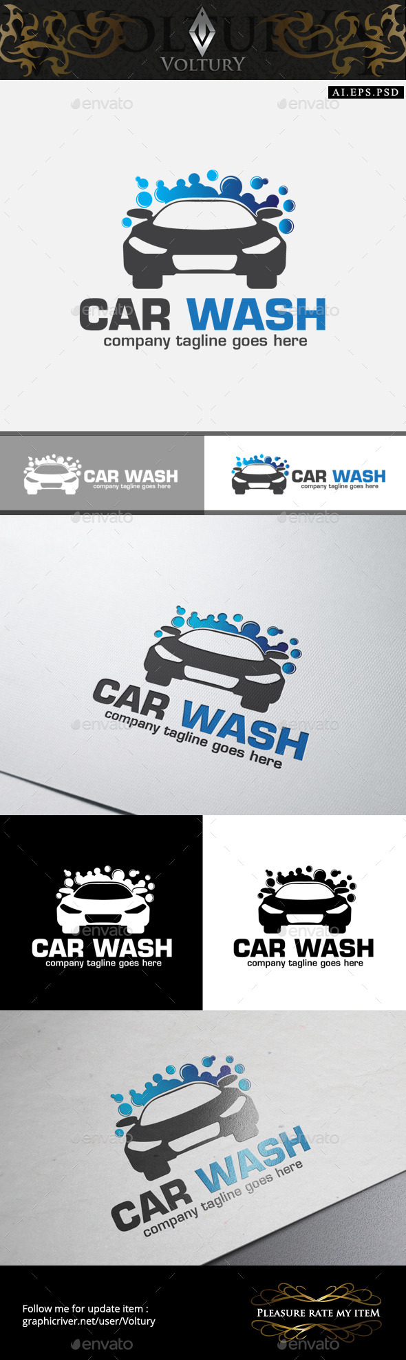 GraphicRiver Car Wash Logo 10514093