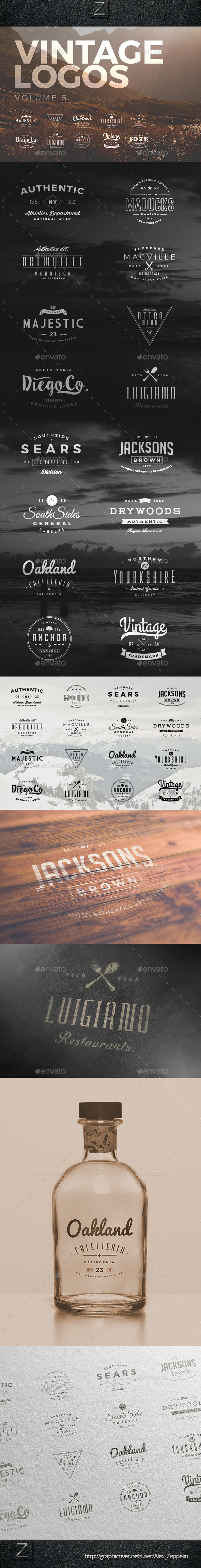 GraphicRiver Vintage Logos Set 5 10514094