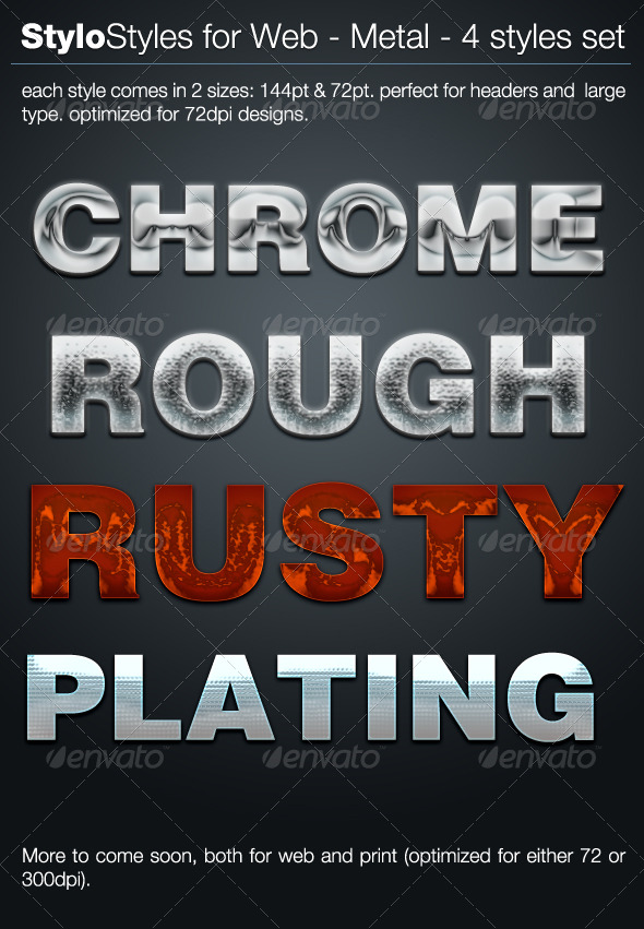 StyloStyles for Web - Metal - Text Effects Styles