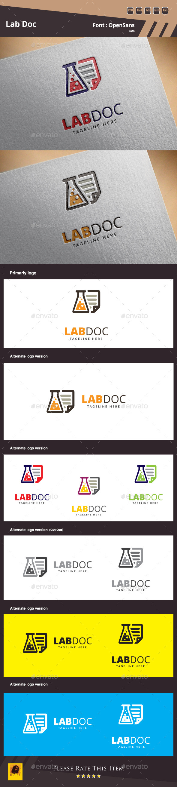 GraphicRiver Lab Doc Logo Template 10514128