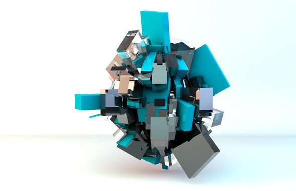 abstract cubes lighting setup - 3DOcean Item for Sale