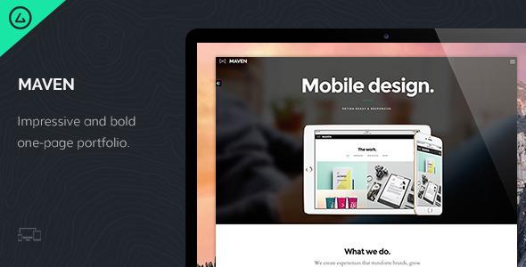 Maven - One Page Portfolio Joomla Template - Portfolio Creative