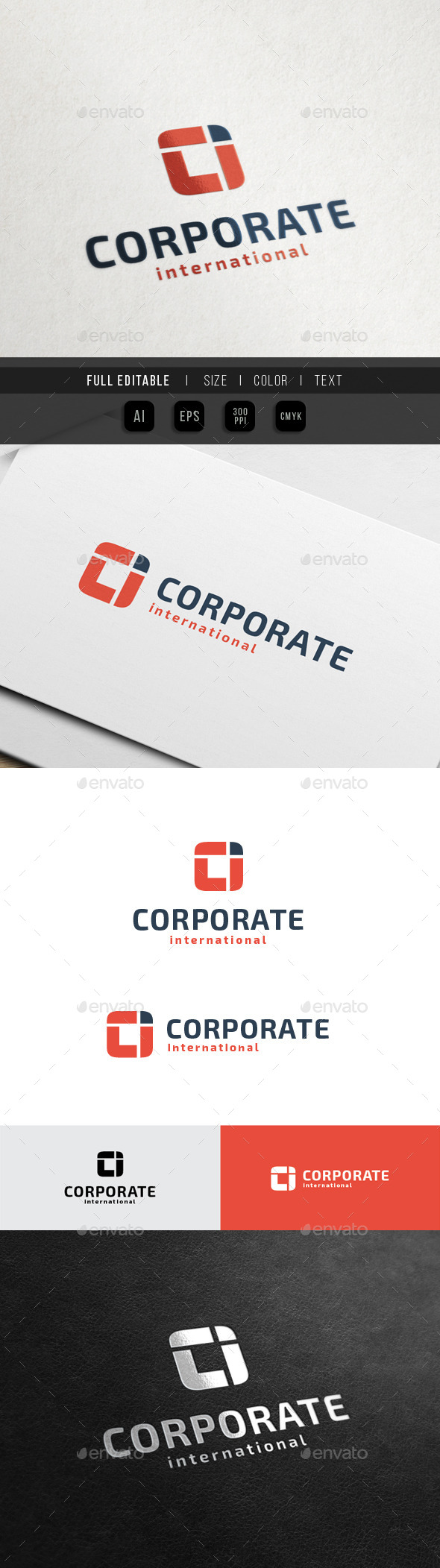 GraphicRiver Square Finance C I O letter 10514279