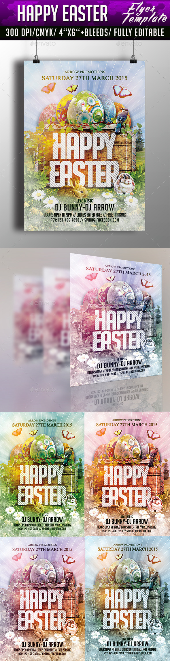 GraphicRiver Happy Easter Flyer Template 10514493